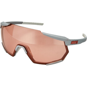 100% Racetrap Lunettes, soft tact stone grey/hiper multilayer mirror